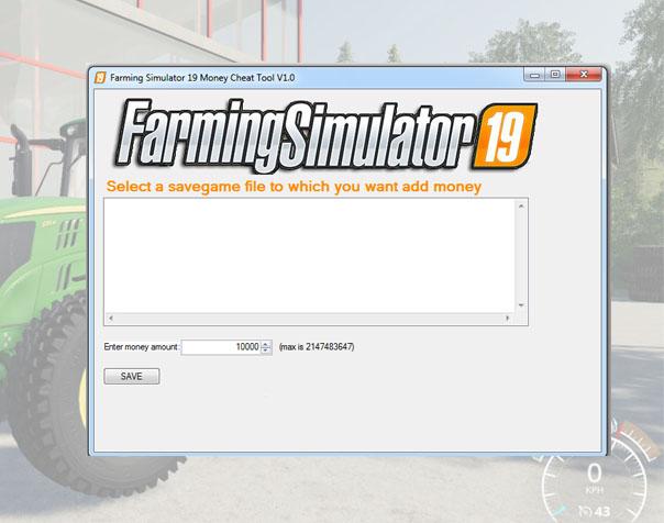 Landwirtschafts Simulator 19 Geld Cheat Tool V10