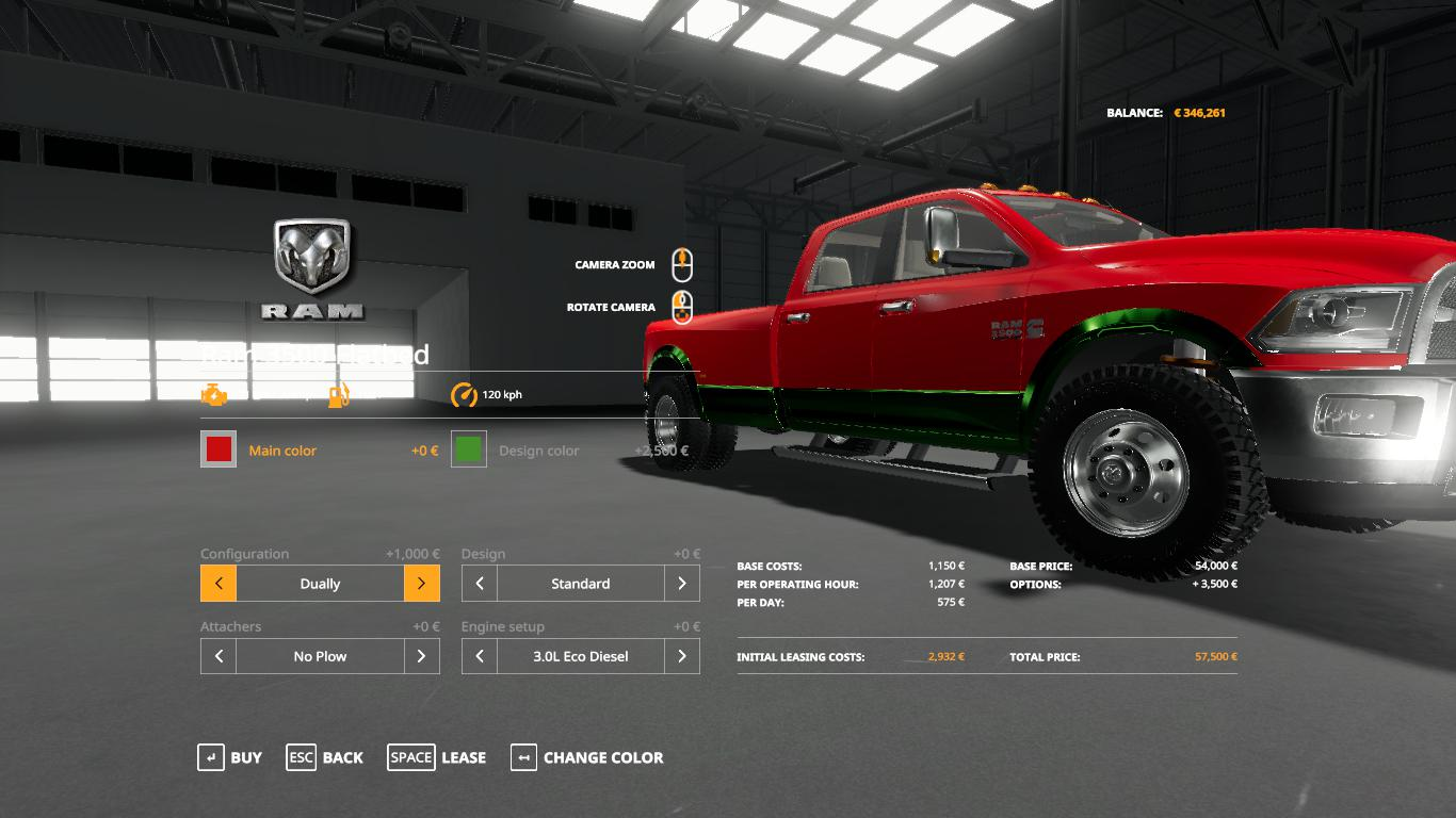 Dodge Ram 3500 v1.0 FS19 | Landwirtschafts Simulator 19 ...