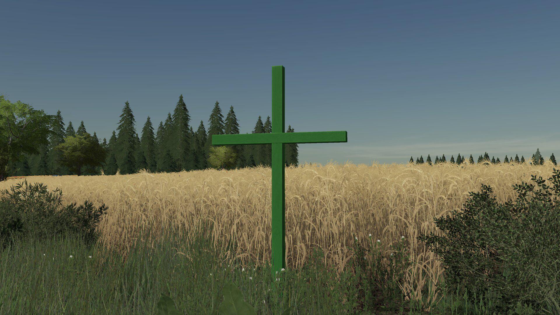 Grünes Kreuz Im Feld